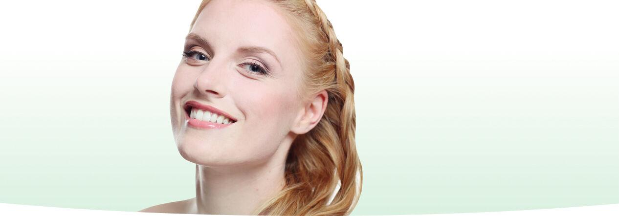 Étrendkiegészítők fogyasztása utáni szép női arcbőr
